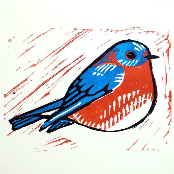 Original Bluebird Tattoo Design