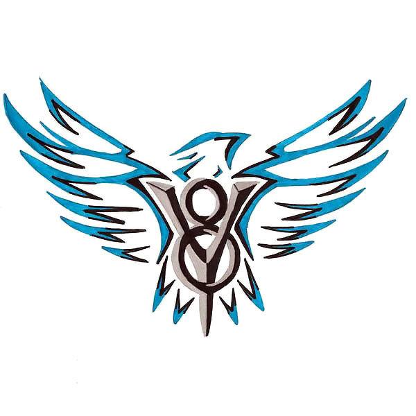 Original Hawk Tattoo Design