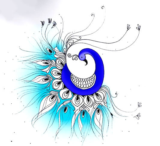 Original Peacock Tattoo Design