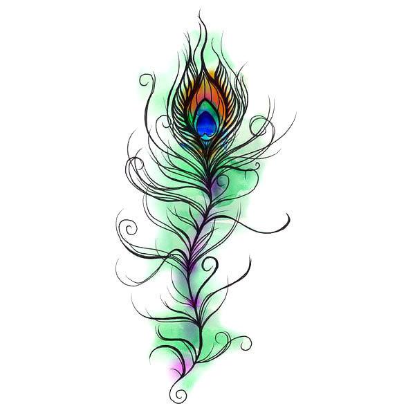 Original Peacock Feather Tattoo Design