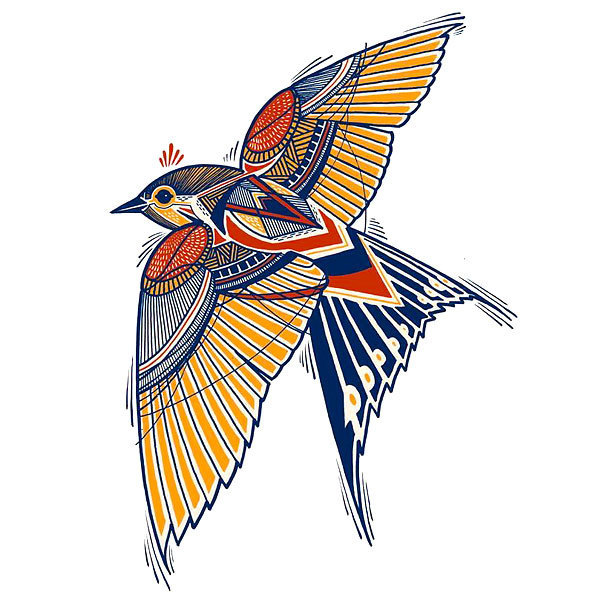 Original Sparrow Tattoo Design