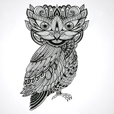 Ornate Owl Tattoo