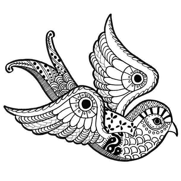 Ornate Swallow Tattoo Design