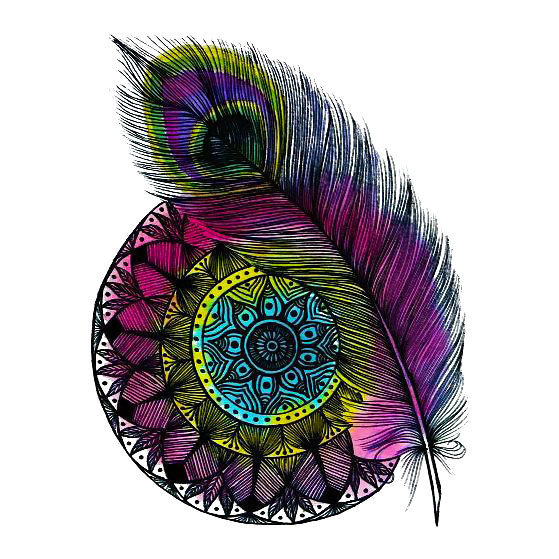 Peacock Feather Mandala Tattoo Design