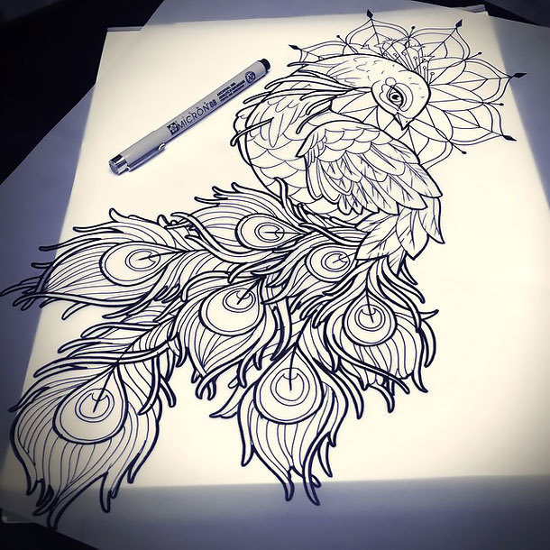 Peacock Feather Tattoos 35 Tattoo Design