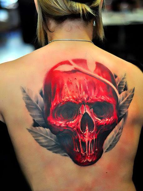 Big Red Skull Tattoo Idea