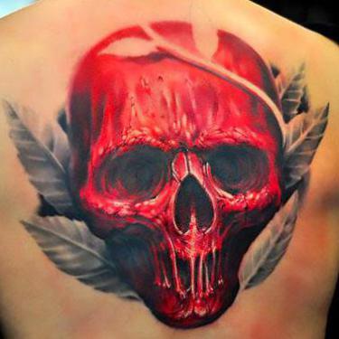 Big Red Skull Tattoo
