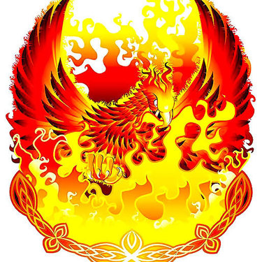 Phoenix In Fire Tattoo