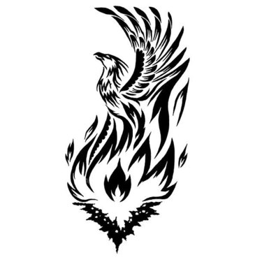 Phoenix Rising From Fire Tattoo