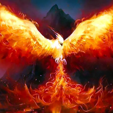 Phoenix Rising From The Ashes Tattoo