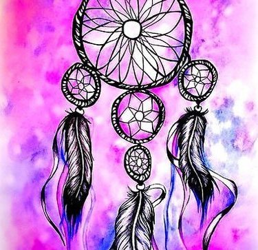 Purple Dreamcatcher Tattoo