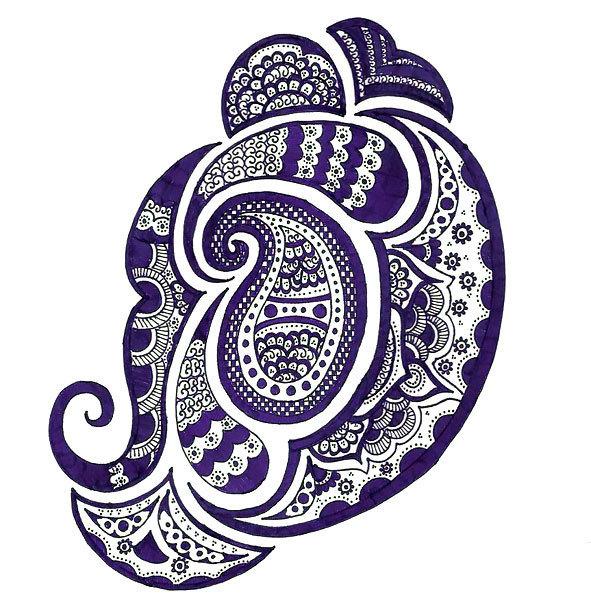 Purple Ornate Tattoo Design