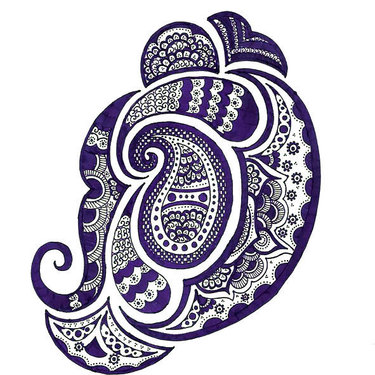 Purple Ornate Tattoo
