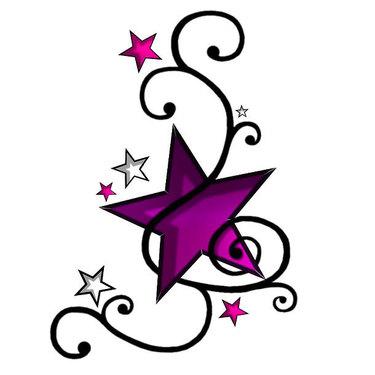 Purple Star Tattoo