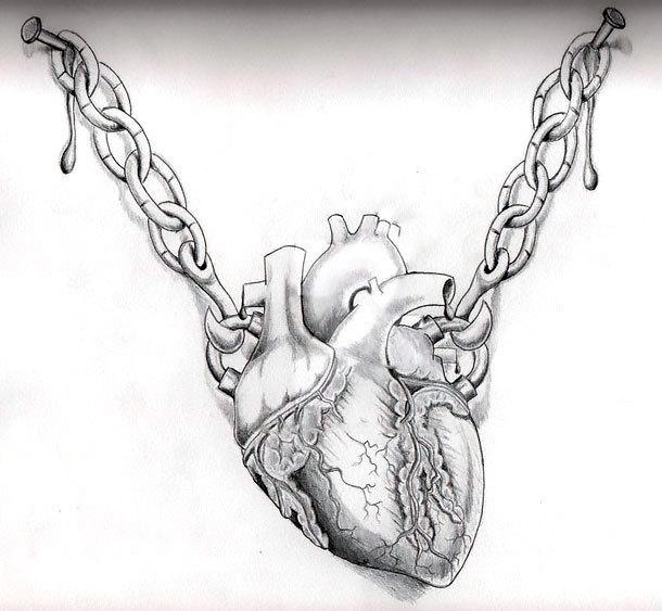 Realistic Heart Tattoo Design
