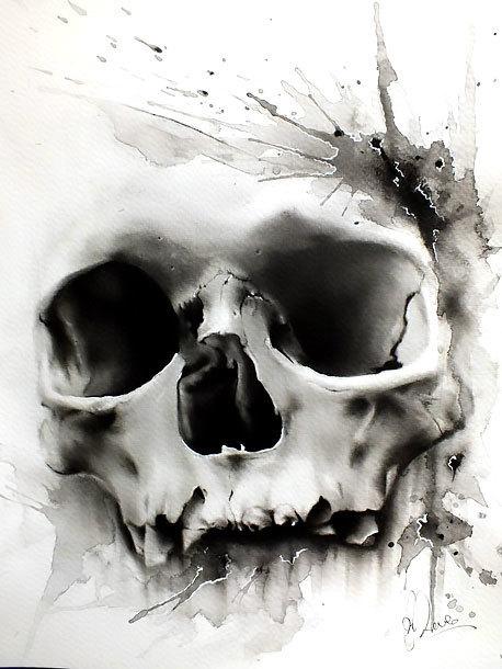 Realistic Skull Tattoo Design