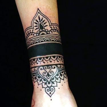 Big Wrist Band Tattoo