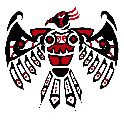 Red Thunderbird Tattoo Design