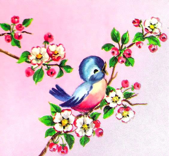 Simple Bluebird Nestling Tattoo Design