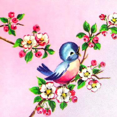 Simple Bluebird Nestling Tattoo