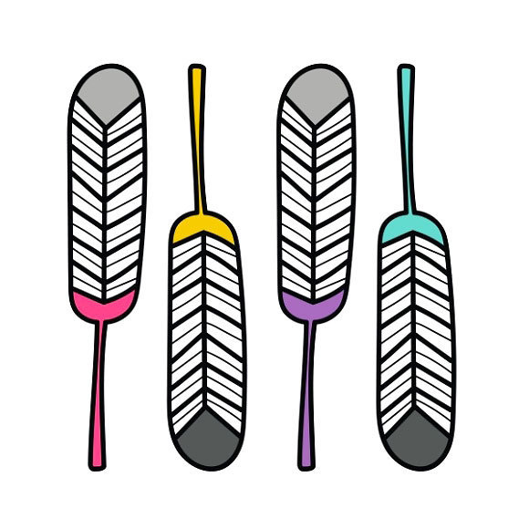 Simple Indian Feather Tattoo Design
