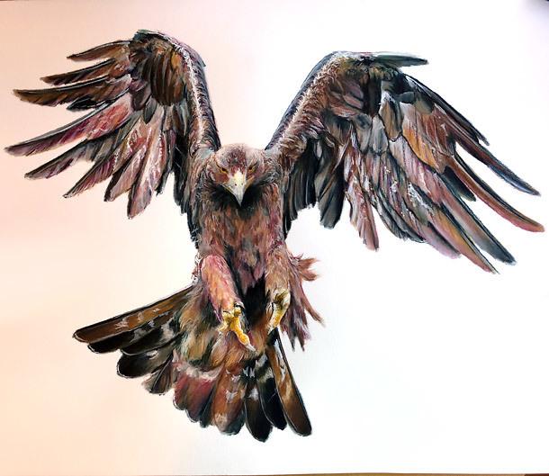 Golden Eagle Tattoo Design