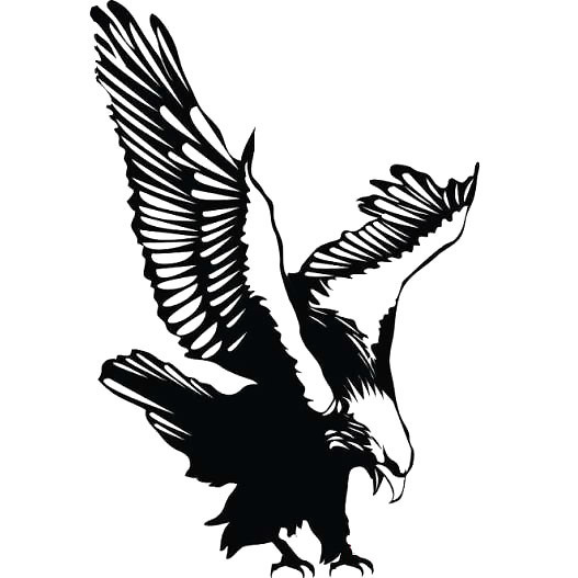 Perching Eagle Tattoo Design