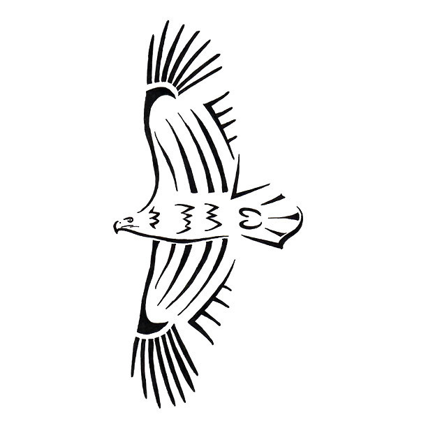 Simple Tribal Eagle Tattoo Design