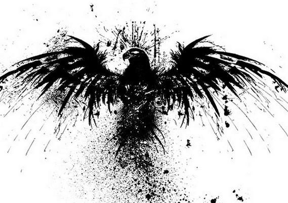 Splashy Eagle Tattoo Design