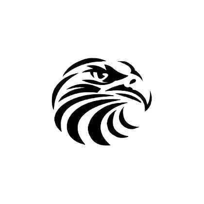 Tribal Eagle Head Tattoo Design