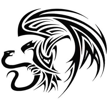 Tribal Mexican Eagle Tattoo