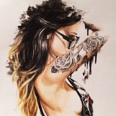 Sexy Inked Girl Tattoo