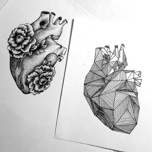 Hearts for Couples Tattoo Design