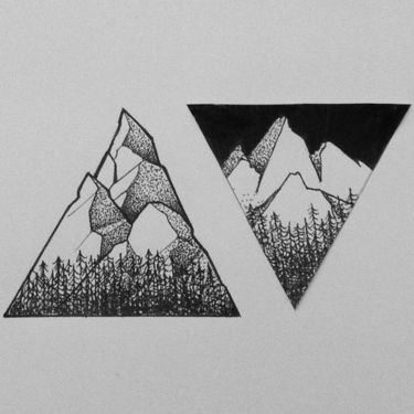 Cool Couples Mountains Tattoo