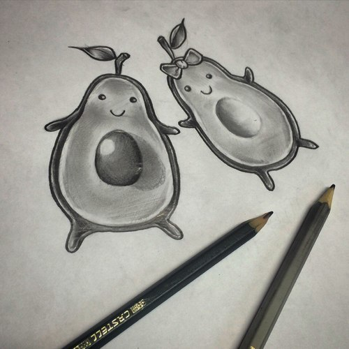 Avocado for Couples  Tattoo Design
