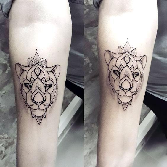 Awesome Lioness Tattoo Idea