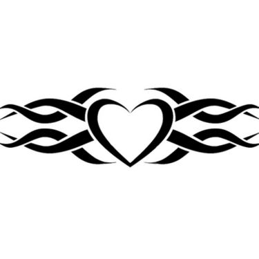 Tribal Heart Wedding Ring Tattoo