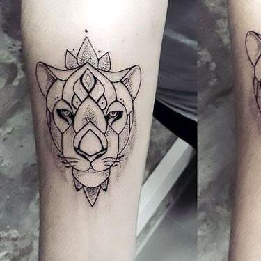 Awesome Lioness Tattoo