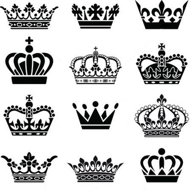 Queen and King Crowns Tattoo