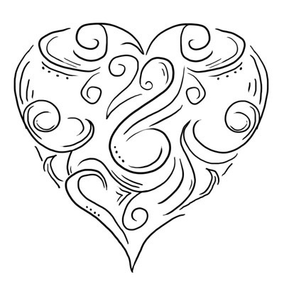 Heart for Wedding  Tattoo Design