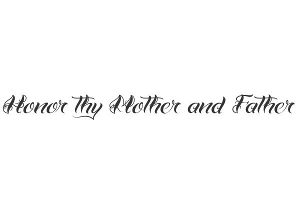 Honor Thy Mother and Father Tattoo Design