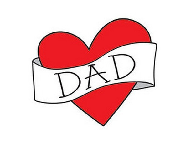 Heart with Dad Inside Tattoo Design