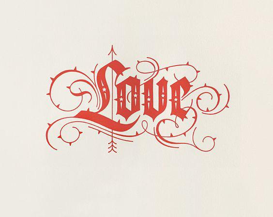 Ornate Love Tattoo Design