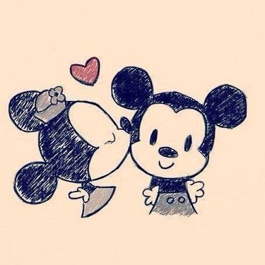 Mickey and Minnie Mouse Love Tattoo