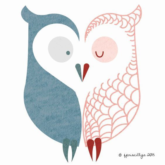Matching Owls Tattoo Design