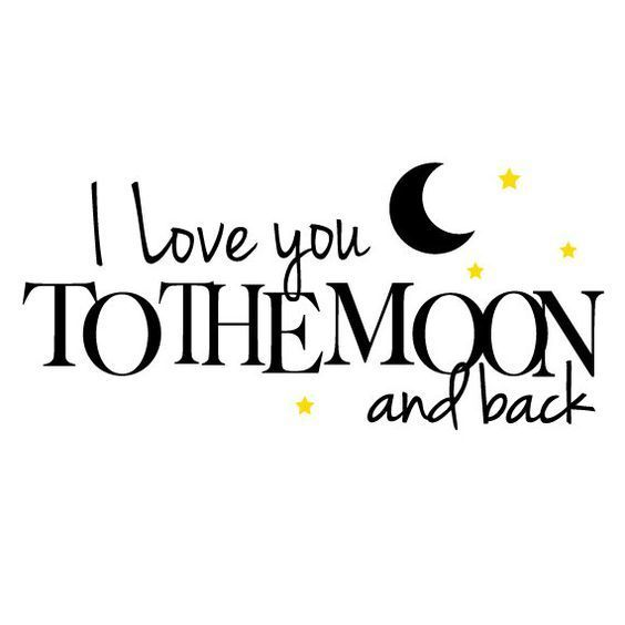 I Love You to the Moon and Back Tattoo Design