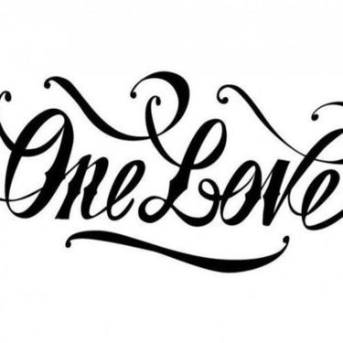 One Love Lettering Tattoo