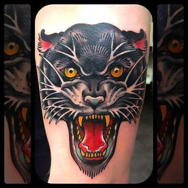 Awesome Panther Head Tattoo