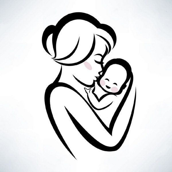 Mother and Baby Tattoo Design