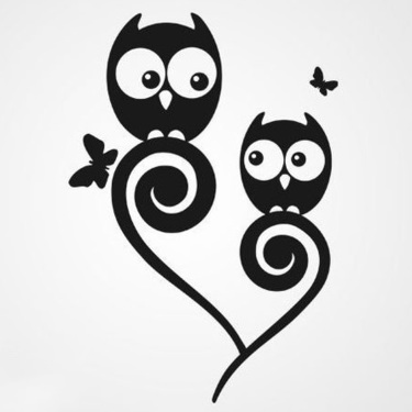Lovely Mother Child Owls Tattoo